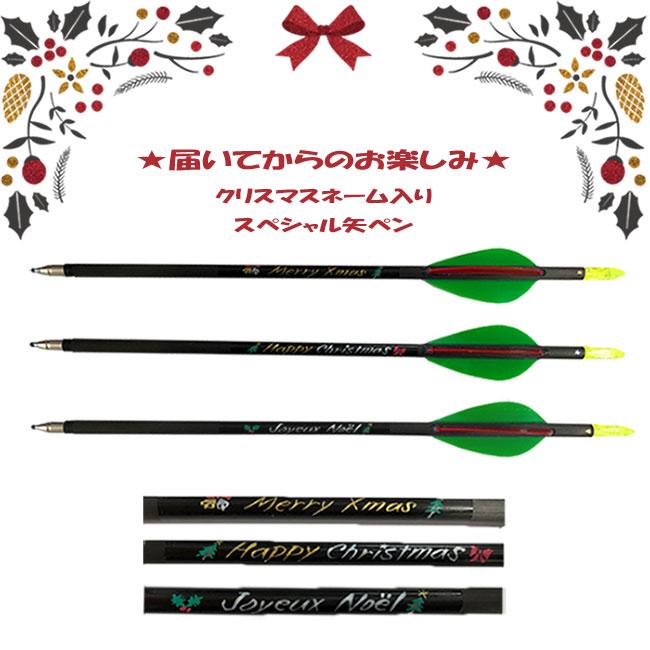 クリスマスネーム入りスペシャル矢ペン